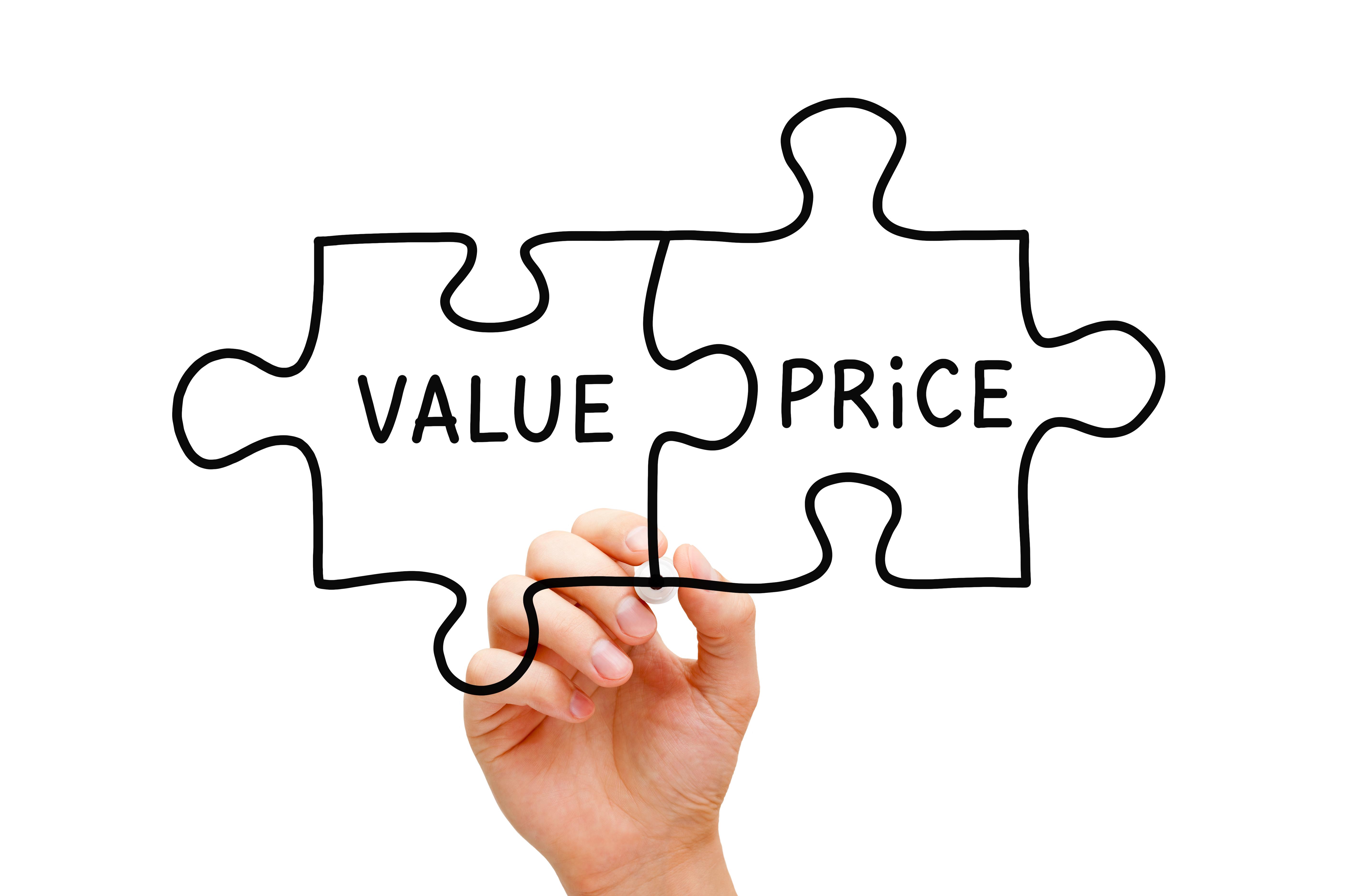 Rapport qualité prix d'une action